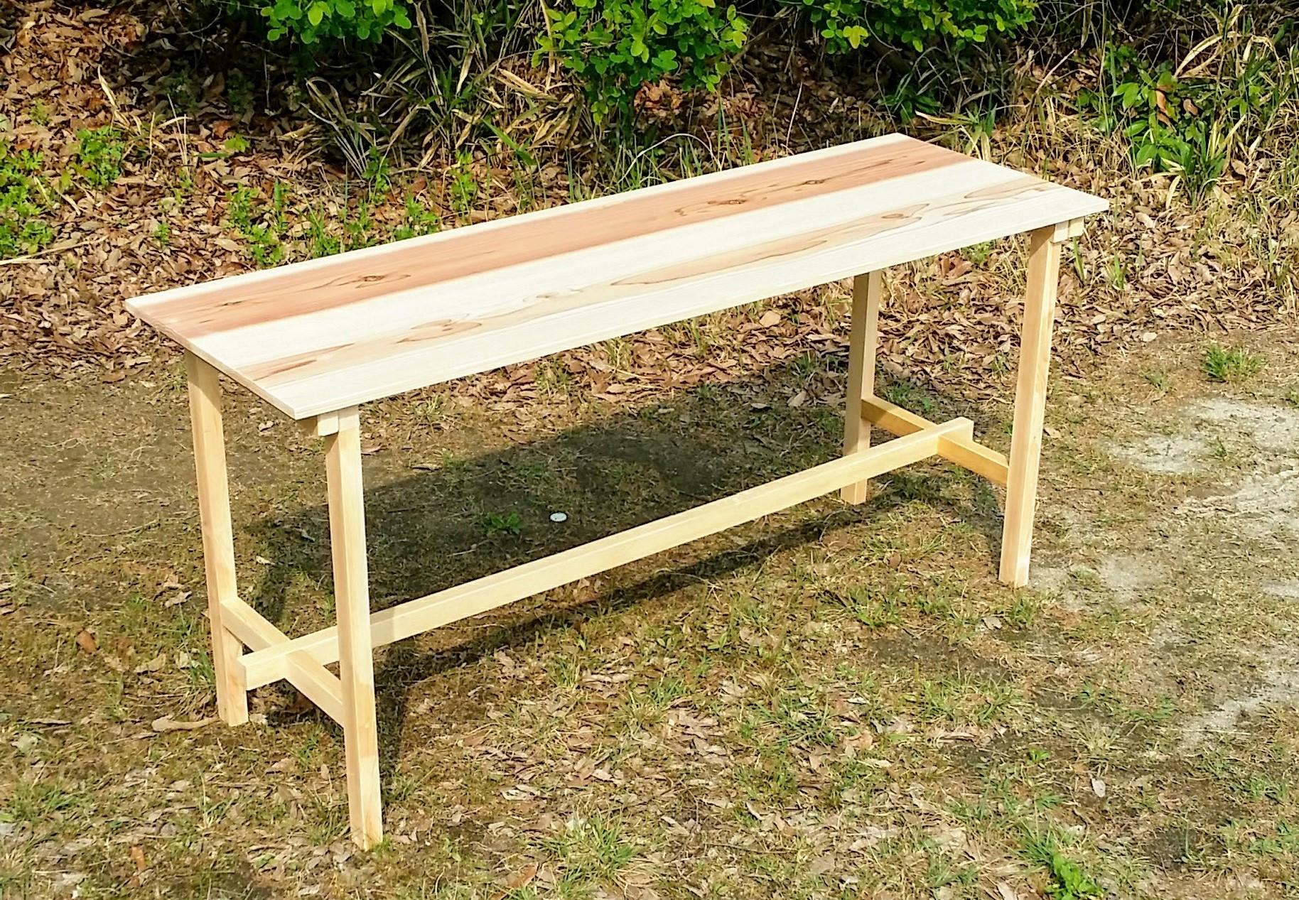 分解できる 木のテーブル