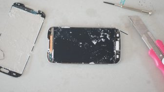 GALAXY S4 画面ガラス 修理